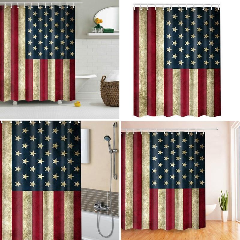 Amerikanische Flagge Duschvorhang Strand Polyester Stoff Rideau ...