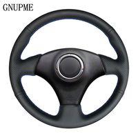 GNUPME Black Artificial Leather Car Steering Wheel Cover for Toyota Celica 1998-2005 RAV4 1998-2003 Corolla (US) 2003