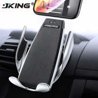 JKING Infrared Touch Car Phone Holder Wireless Charging For iPhone Samsung 360 Navigation Car Mount holder Car Stand Support