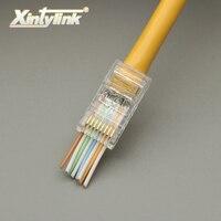 Xintylink 100 pz EZ connettore rj45 connettore di rete rj45 plug cat5 cat5e 8P8C non schermato maschio utp ethernet modulare terminali