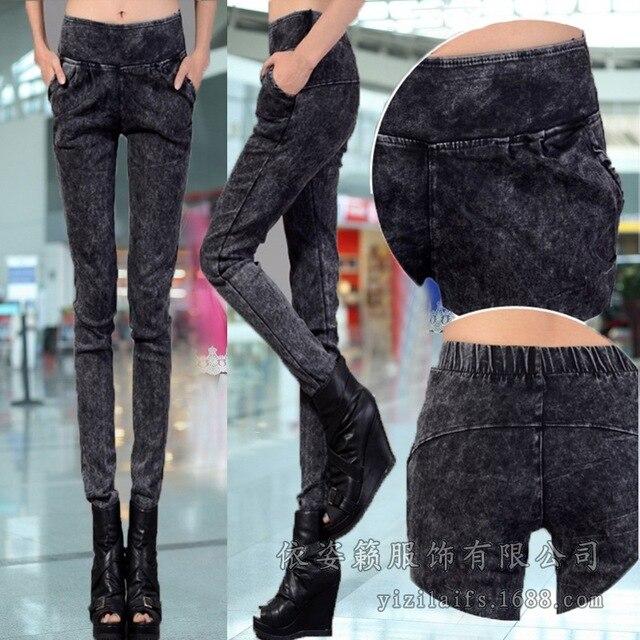 Г-жа зима кашемир брюки ноги толстые карандаш брюки и Корейского бренда женские брюки размер