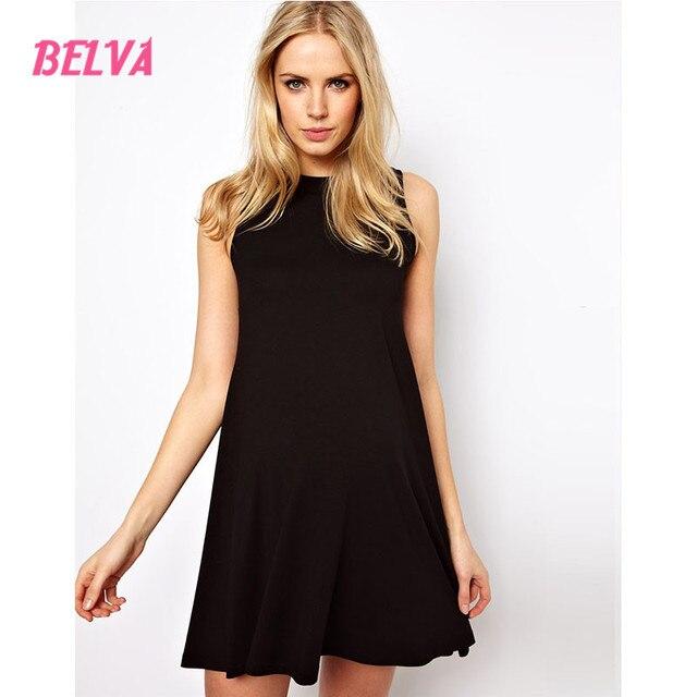 Belva schwarz ärmellose schwarze kurze dress für schwangere elegante ...