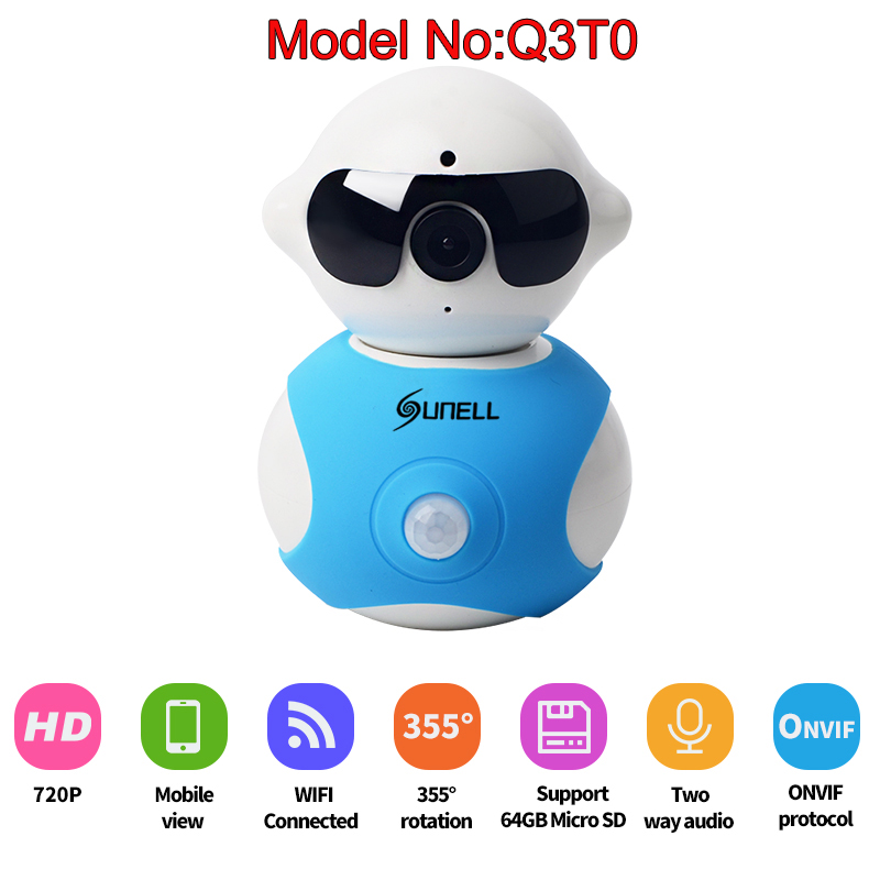 Best Sunell PIR IP IR Camera Wireless 720P IP Security Camera With Audio Alarm WiFi IP Baby Monitor Easy QR CODE Scan Connect wifi wireless 720p ip camera wifi ip camera two way audio baby monitor pan tilt security camera easy qr code scan connect