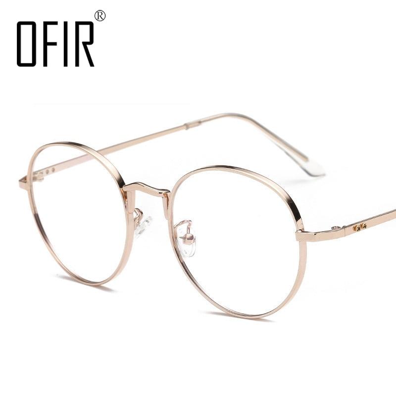OFIR Unisex Retro Stars Round Metal Frame Clear Lens glasses Optical Spectacles Full Metal Framed Glasses Frame Eyewear NG-79