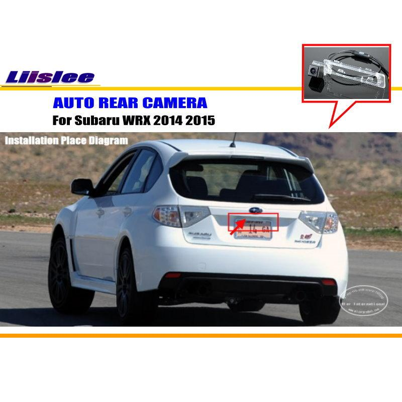 Car Rear Camera For Subaru WRX 2014 2015 / Back Parking Camera / HD CCD RCA NTST PAL / Reverse Hole Camera