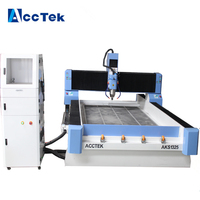 Stone Cnc Router , 3D Sculpture Stone Letter Engraving Machine for Marble Granite Gravestone from Jinan AccTek