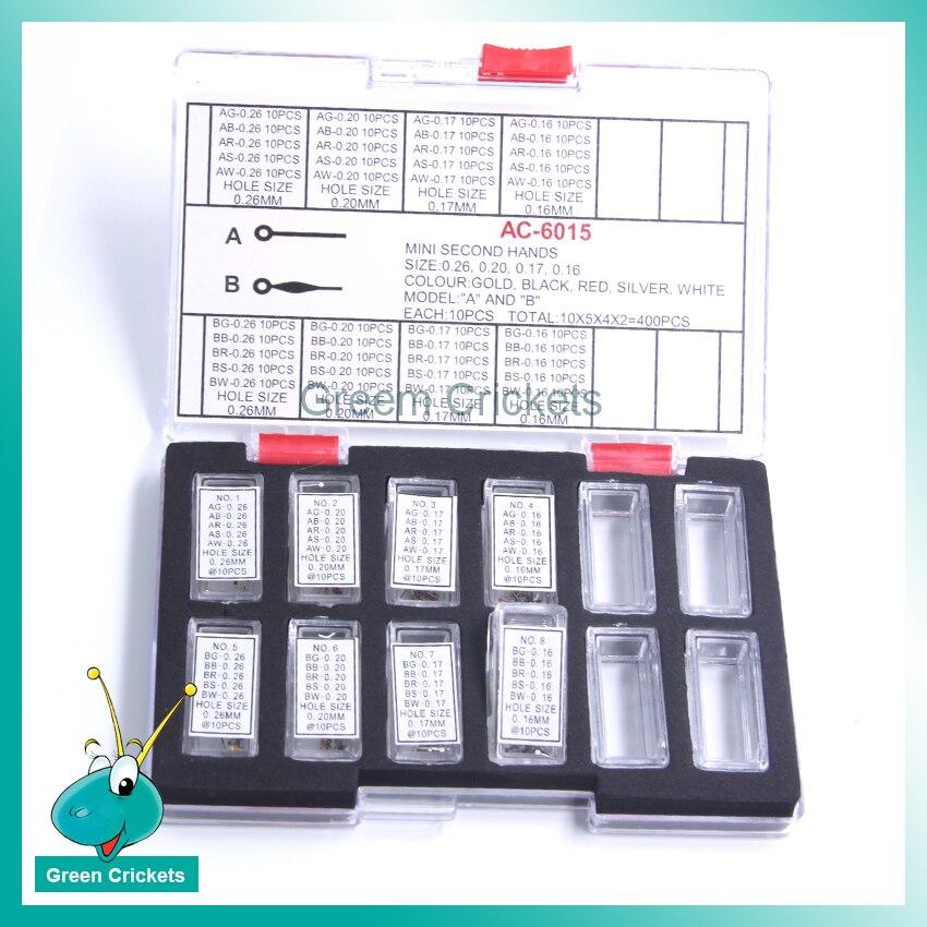 Relógio segundo as Mãos Tamanho do Furo Ponteiros do Relógio Conjunto para Relojoeiros Atacado-cores Mulit Cores Substituição Peças 0.16mm0.26mm 4
