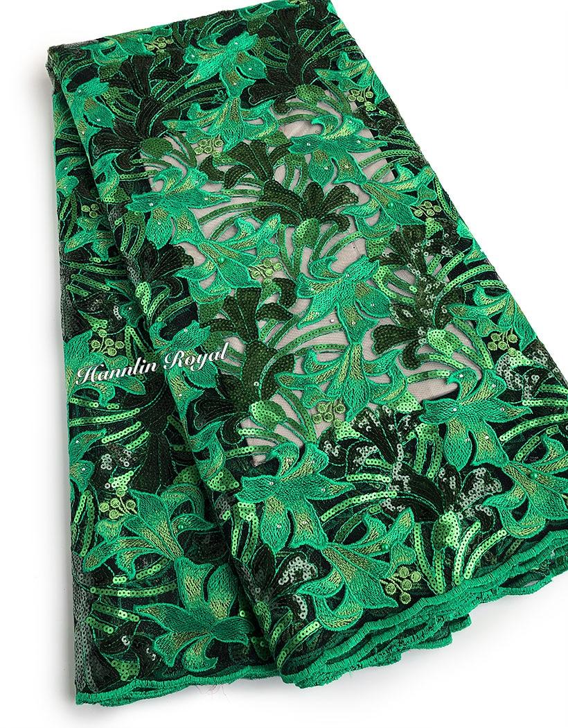 Ev ve Bahçe'ten Dantel'de 5 yards nakış fransız dantel payetler bir sürü parlaklık için Afrika kumaş elbise kumaş sıcak satış'da  Grup 1
