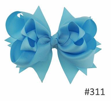 Твои банты 1 шт. 5 дюймов для девочек Однотонные бантики для волос Заколки для волос с бантом из ленты на каблуке высотой заколки для волос для детей Головные уборы Fastion женские аксессуары для волос - Цвет: 311lt blue