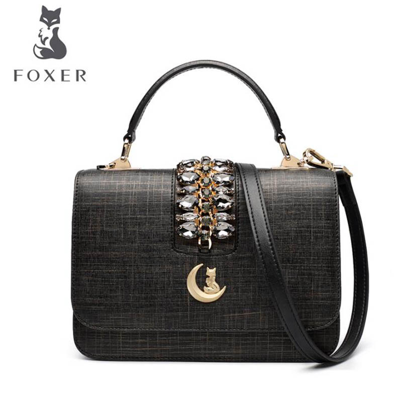 2018 New FOXER women leather bag fashion luxury small bags women tote designer shoulder bag Handbags & Crossbody bags new fashion women leather handbags 2017 luxury designer patchwork shoulder bags small crossbody bag with chain for women girls