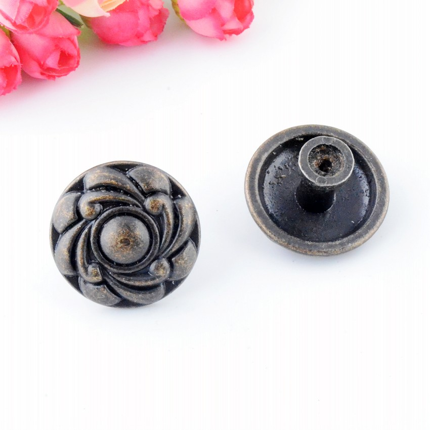 Free Shipping 4PCs Jewelry Wooden Box Pull Handle Dresser Drawer For Cabinet Door Round Antique Bronze 36x24mm J3146 modern chinese antique bronze door handle wooden door handle semicircular glass door carving handle