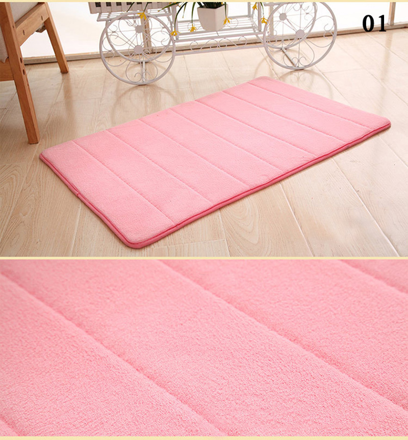 New Water Absorbent Rug Mat Rebound Memory Foam Bathroom Non Slip Pad Carpet