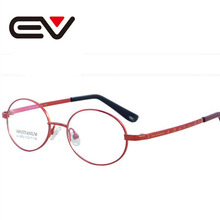 Kinder optische brillen rahmen kinder schöne runde titanium full-frame brille student studium spielen brillen ev0608