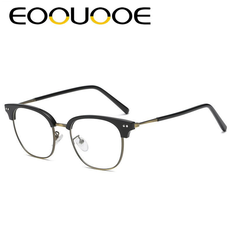 8175065aa15 EOOUOOE 2018 New Design Glasses Frame Retro Bronz Design Men Prescription  Gafas Women 5102 Myopia Oculos Male Optical Glasses
