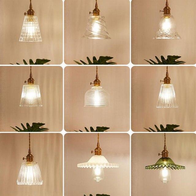 Loft Industrial Pendant Lights living room Fixtures Glass American Edison Style Retro Pendant Lighting Vintage Single head Lamp