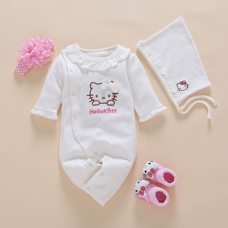 white spring toddler baby romper headband new born infant clothing long sleeve baby clothes china 3 6 months sleepers body suit brand new 2017 infant romper baby boys girls jumpsuit clothes new born bebe clothing hooded toddler cute stitch free shipping