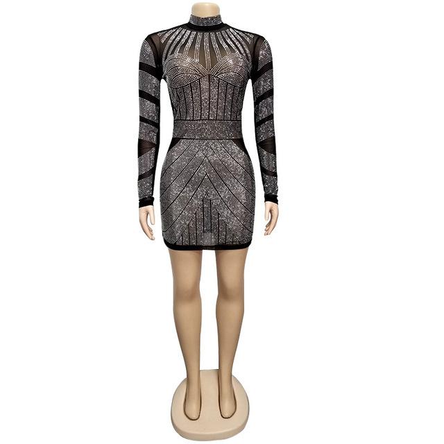 Short black sparkly cocktail dress