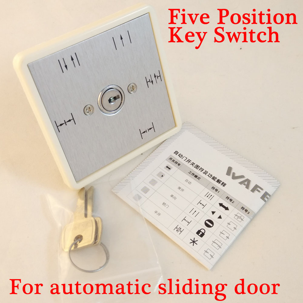 Free Shipping Five Postion Key Switch For Automatic Door Access Control Autodoor Operation Function Selection Switch