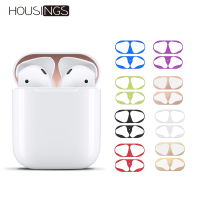Metal Plating Dust Guard For Apple AirPods Case Cover Accessory Dust-proof Protective Sticker Skin Protector AirPods Accessories