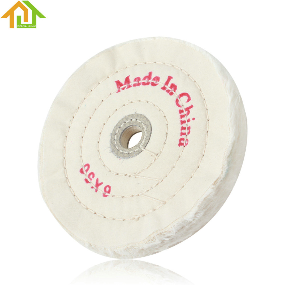 White Pad 6in Cloth Buffing Polishing Wheel 1 2in Arbor