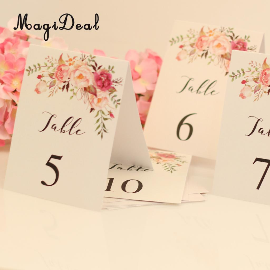 Magideal 1 10 Numbers Place Card Paper Table Markers W Printed