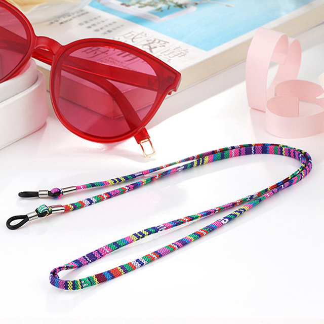 5e437bf81d Fashion Retro eyeglass Sunglasses Cotton Neck String Cord Retainer Strap  Eyewear Lanyard Holder with Good Silicone loop 6 styles