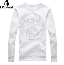 Новинка негабаритных мужские белый Худи высокое качество 3D печатных Тиснение Худи большой Размеры повседневные футболки Homme Лидер продаж