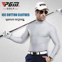 PGM ICE Uv Zonnebrandcrème Mens Golf T-shirt Zomer Lange mouwen Tshirt Polode Golf Pourhomme Polyester Viscose Ondergoed Kleding