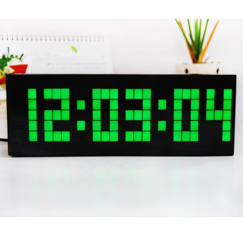 4 barve LED ura digitalna budilka stenska namizna mizica Novo - Dekor za dom - Fotografija 2