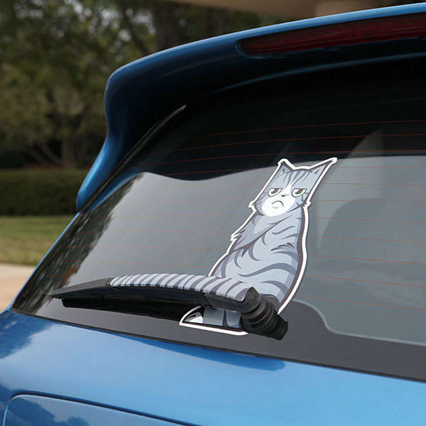 Online Shop Aliauto Funny Car Decals Moving Cat Tail Wiper Stickers