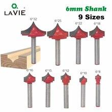 LA VIE 1 шт. 6 мм хвостовик ЧПУ круглый нос биты круглая точка резки Бит шейкер острый резак твердосплавные инструменты для деревообработки MC06006