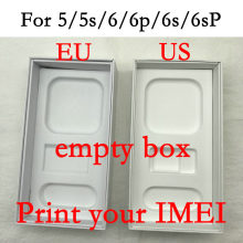 High Quality US/EU/UK Version Phone Packaging Box For iPhone 5/5S/6/6P/6s/6sP phone Box without Accessories Print IMEI(China)