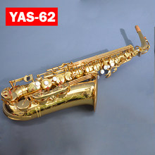 Brand NEW YAS-62 Custom Alto Saxophone Electrophoresis Gold Key Professional Super Play Sax Mouthpiece With Case Free Shipping(China)