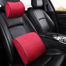 KKYSYELVA  Memory Foam Lumbar Support Cushion For Car And Headrest Neck Pillow Kit Interior Accessories