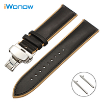 22mm France Genuine Calf Leather Watchband Double Color For Certina Victorinox Quick Release Watch Band Steel