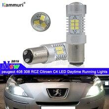 HID Белый 1157 P21 5 Вт без ошибок Автомобильный светодиодный светильник для peugeot 408 308 RCZ Kia KX5 Светодиодный дневной светильник DRL Дневной ходовой светильник s
