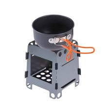 Outdoor Camping Wood Stove Portable Lightweight Folding Alcohol Burning for Cooking BBQ Backpacking