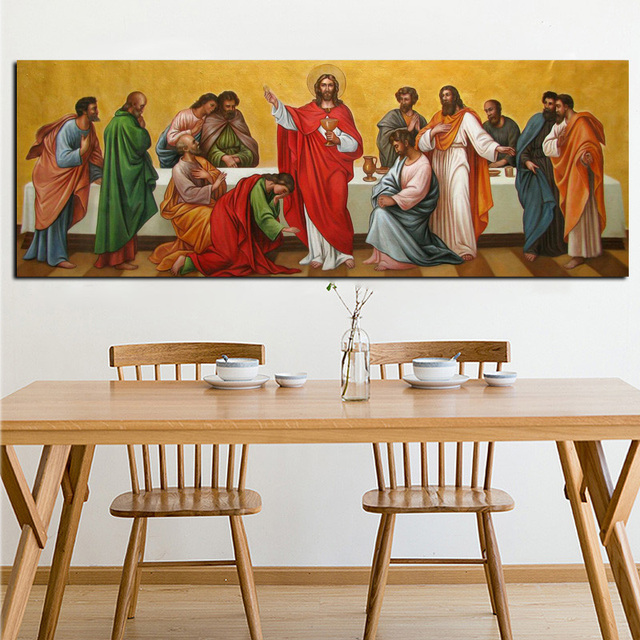 Digital Print Famous Jesus Canvas Abstract Oil Painting On Canvas