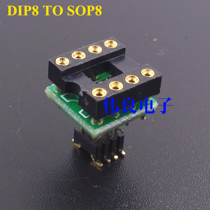 1 Piece PCB For  Plug-in Op Amp To  Patch Op Amp DIP8 To Sop8
