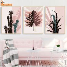 Wall Art Canvas Painting Cactus Palm Leaf Tropical Plant Nordic Posters And Prints Decoration Pictures For Living Room Home