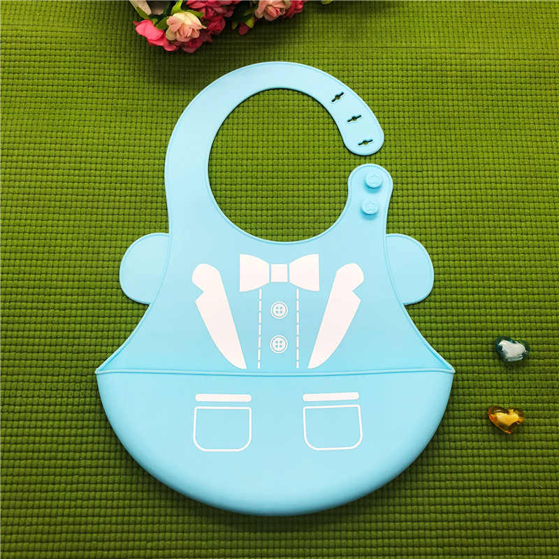 Tahan Air Oto Bayi Silikon Bersendawa Kain Balita Disesuaikan Anak Feeding Celemek EVA Air Liur Bandana DS19