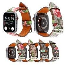 Модный Роскошный кожаный ремешок для часов Apple watch series 4 3 2 1 итальянский кожаный браслет ремешок мм для Iwatch 44 мм/мм 42 мм/мм 40 мм/38 женщин