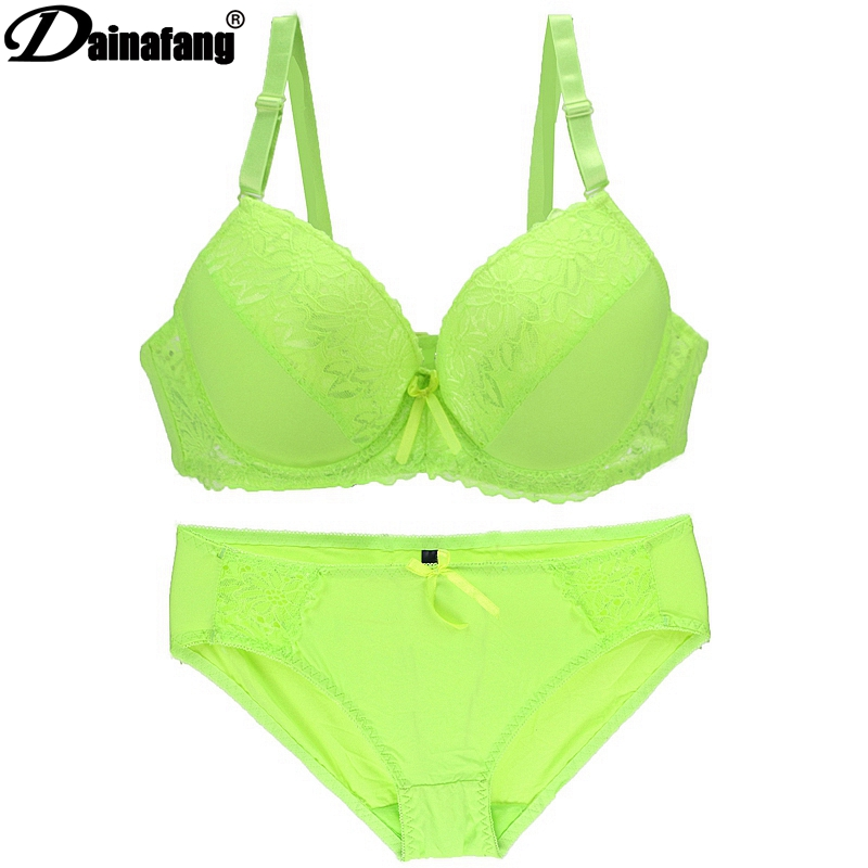 Lady Black Lace Push Up Bra Set Top Of Cups Bra Lace Panties And Bra Sets Women's Underwear Sexy Lingerie 8 Colors
