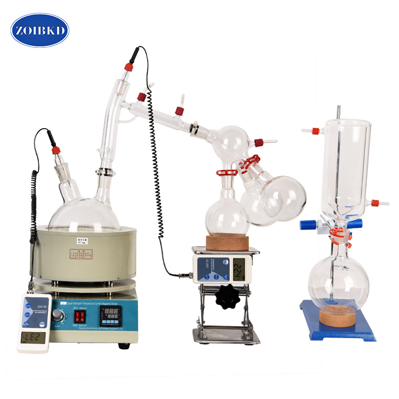 все цены на USA Hot Scale Small Short Path Distillation Equipment 5L Short Path Distillation With Stirring Heating Mantle Include Cold trap