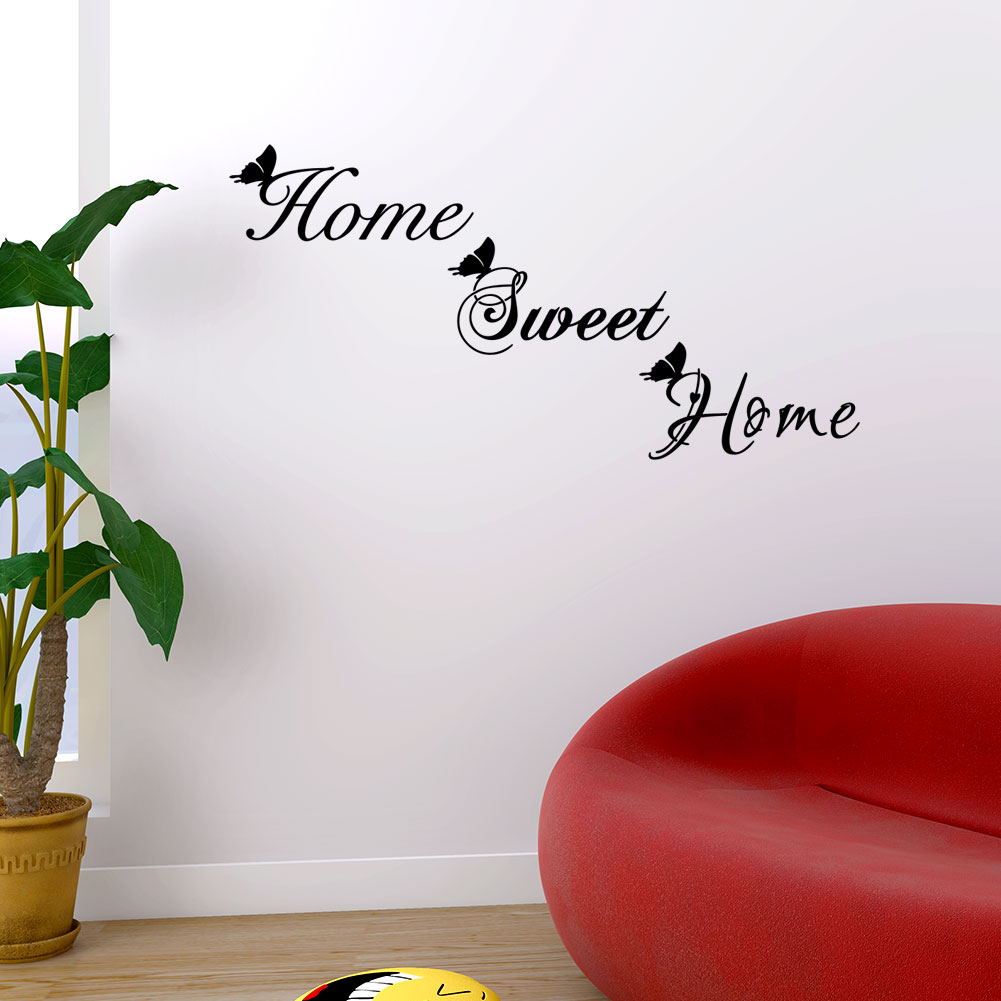 Love Sweet Home Vinyl Wall Decal Wall Lettering Art Words Wall Sticker Home Decor Living Room Decoration Decals