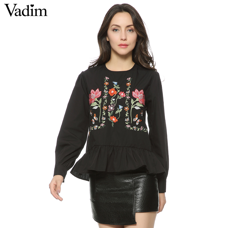 HTB1lWOMQFXXXXXfXXXXq6xXFXXXh - Women vintage flower embroidery shirts long sleeve