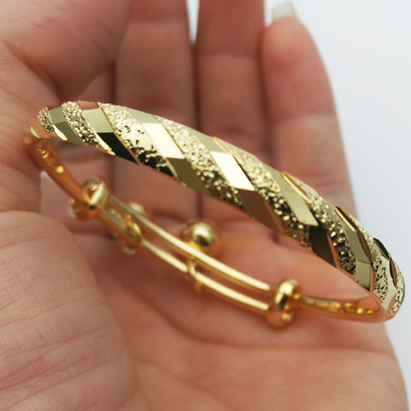 Children's Jewelry Gold Color Meteor Embossing with Bells ...