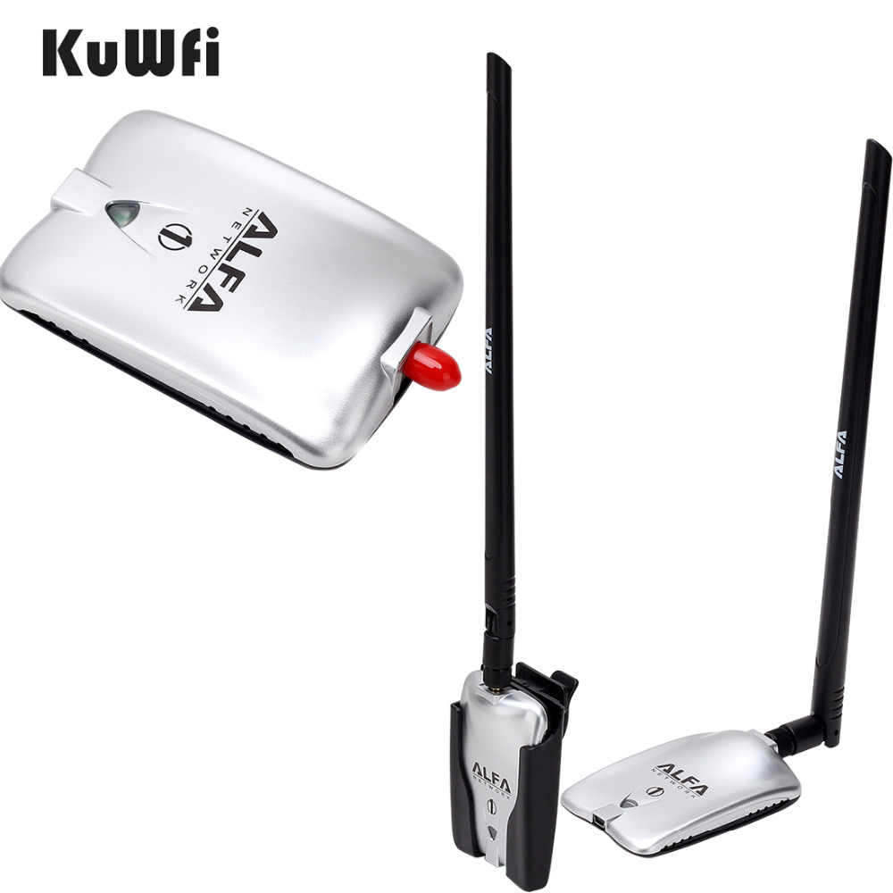 AWUS036NH LUXURY ALFA Adapter Network Ralink3070L 2,4 Ghz alta potencia adaptador wifi USB inalámbrico 2 * 8dBi Antena de largo alcance