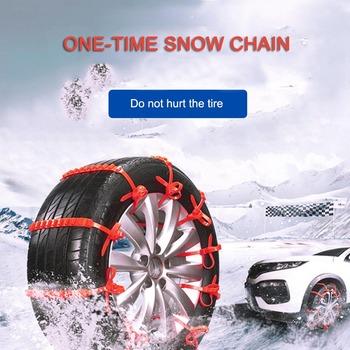 Uniwersalne łańcuchy śniegowe nylonowe łańcuchy przeciwpoślizgowe łańcuchy zimowe do samochodów opony śnieżne opony zagęszczane tanie i dobre opinie 215-55r-18 20in CN (pochodzenie) cable tie chain Easy diy Snow and Mud ground