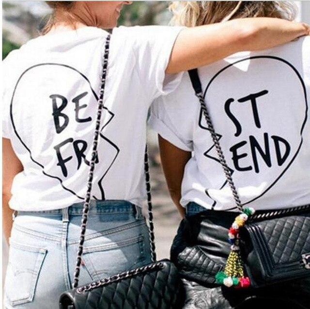 Negro Impresa Blanco Y 2018 Camiseta Mejor Letra Amigo Femenina AYwOg8q